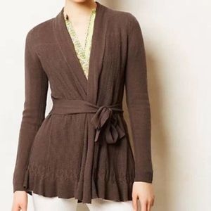 Anthropologie Sparrow skirted duster cardigan